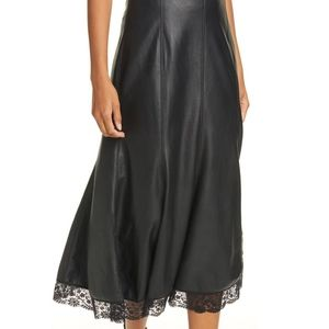NWT Free People Film Noir Faux Leather Skirt